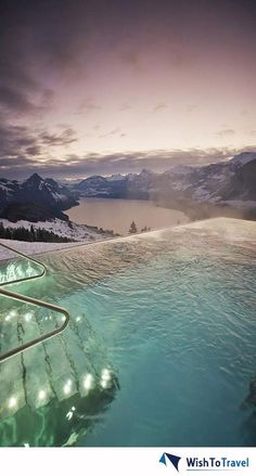A little travel inspiration for your day - the view from Switzerland's Hotel Villa Honegg.
