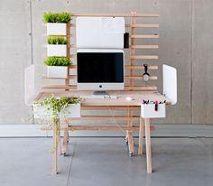 Worknest le bureau modulaire pour gens créatifs par Wiktoria Lenart