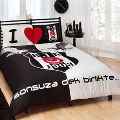 Çift Kişilik Nevresim Takımı Beşiktaş Kartal Logo