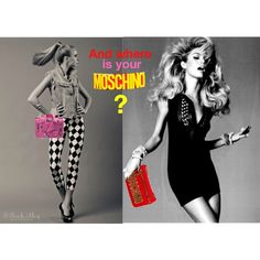 pubblicità Moschino by una-pulkstene on Polyvore featuring moda and Moschino