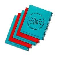 5 Left-Handed Wide-Ruled Spiral Notebooks - Assorted
