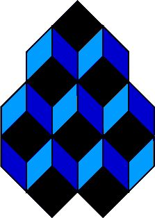 My favorite optical illusion. Stare at a dark diamond shape then move your eyes to another one. Sometimes the dark shape is the top of a box and sometimes the bottom. Cool Optical Illusions, Art Optical, Chalk Drawings, Illusion Art, Sand Art, Barn Quilts, Mirror Image, Op Art, Diamond Shapes