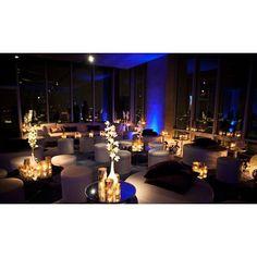 Cocktail wedding reception decor