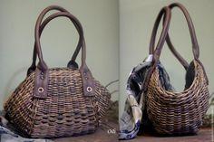 """Купить плетеная сумочка """"Визаж"""" - комбинированный, сумочка плетеная, корзинка сумка, летняя сумочка"""