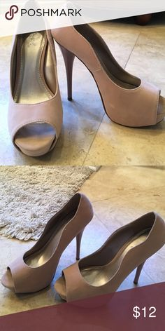 Qupid Suede stilettos Only wore these once. They are too big for me. Great condition. Qupid Shoes Heels