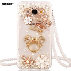j5 2015 Luxury DIY Rhinestone Case Cover for Samsung Galaxy J5 case Silicone J5008 J500 Holder stand for samsung J5 2015 case