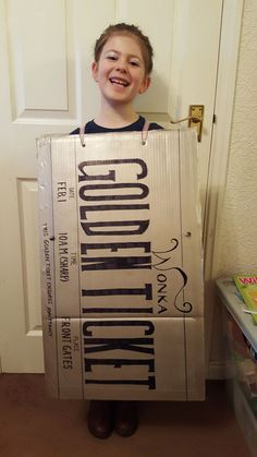Golden Ticket from Charlie and the Chocolate Factory. | Costumes | Fancy Dress | World Book Day | Homemade Costumes | Handmade Costumes | Willy Wonka