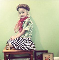 Spring14 #girlsclothing#vintage#floral #stripes