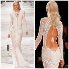 Roberto Cavalli Night Dresses 2014 Roberto Cavalli open low
