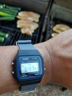 Casio F-91W  grilling in 110 degree weather with my digital F 91w 0ca0b14e74