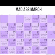 March Ab Workout!