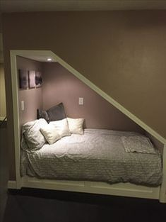 Cozy under stairs nook basement remodeling, guest room, home improvement, ikea, ikea Basement Makeover, Basement Renovations, Home Remodeling, Basement Decorating, Decorating Ideas, Bedroom Remodeling, Attic Renovation, Under Stairs Nook, Under Basement Stairs