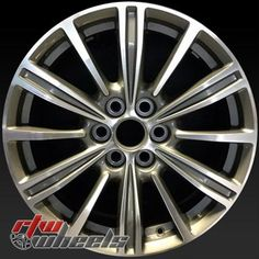 """Cadillac XTS wheels for sale 2017. 18"""" Machined Charcoal rims 23101924 - http://www.rtwwheels.com/store/shop/18-cadillac-xts-wheels-for-sale-machined-charcoal-23101924/"""