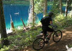 One of the best mountain biking Trails in the US, McKenzie River Trail, Eugene, Oregon