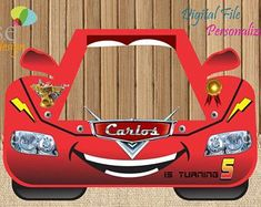 Cars Photo Booth / Cars Birthday / Birthday Backdrops / Birthday Photo Booths / Cars / Cars Birthday / Cars Selfie Frame / Cars 3 Party