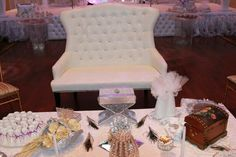 A glimpse of the seat for the bride and groom by Sumaya Creations.