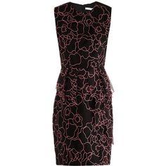 Diane Von Furstenberg Leni black interlaced dress ($721) ❤ liked on Polyvore