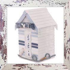 Beach hut trinket box