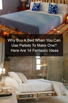 Why buy a bed when you can make one yourself with a wooden pallet?!