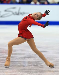 SAINT JOHN, NB - OCTOBER 26: Julia Lipnitskaia of Russia skates during the ladies free program on day two at the ISU GP 2013 Skate Canada International at Harbour Station on October 26, 2013 in Saint John, New Brunswick, Canada. (Photo by Dave Sandford/Getty Images)