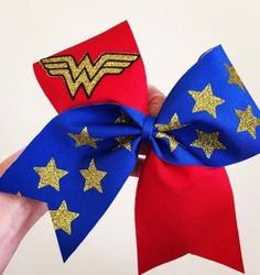 Wonder Woman Deluxe Spandex Cheer Bow