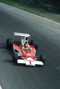 Emerson Fittipaldi in the McLaren M23 at Monza, 1975.
