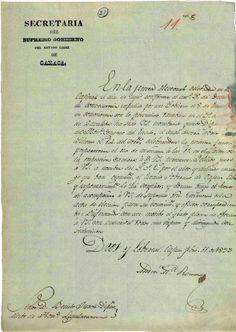 DOCUMENTO-103. Nombramiento de Benito Juárez como diputado electo de la Honorable  Legislatura del Estado de Oaxaca. Oaxaca, 11 de febrero de 1833 Benito Juárez, vol. 1, exp. 5, 1 f. ~ AGN