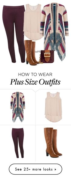 """Untitled #1281"" by bec1098 on Polyvore featuring M&Co, Melissa McCarthy Seven7, maurices, Burberry, Jilsen Quality Boots and plus size clothing"