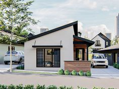 050H-0332: Modern Ranch House Plan Fits a Narrow Lot