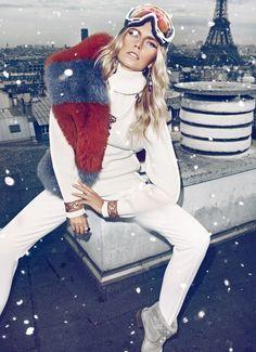 Cato Van Ee by Koray Birand for Vogue Spain Joyas Ski Outfits, Winter Outfits, Winter Wear, Autumn Winter Fashion, Fall Winter, Apres Ski Party, Ski Et Snowboard, Pantalon Ski, Harper's Bazaar