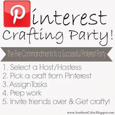 How to Throw a Successful Pinterest Party #SouthernColor