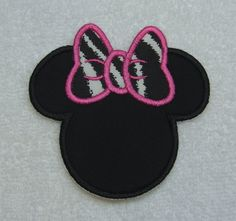 Minnie Mouse Silhouette Fabric Embroidered by TheAppliquePatch, $5.00