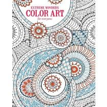 Extreme Wonders Color Art for Everyone - Front Cover.  Adult coloring books