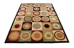 Parallels PR10 Multicolour: Nourison Parallels Rugs - Wool Hand Made Designer Rugs | Buy Online in UK