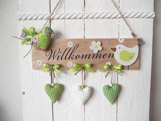 Girlande Türschild Vogel Herzen Deko Tilda-Landhaus-Shabby-Geschenk-Muttertag in Möbel & Wohnen, Dekoration, Sonstige | eBay