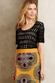 Anthropologie EU Lacework Tee