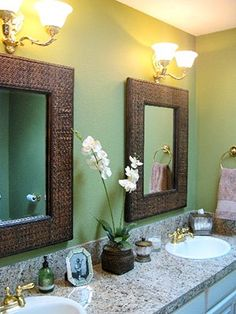 green bathroom! Even MORE if you click the image!