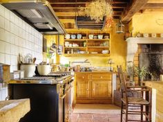 Ocher Yellow Kitchen