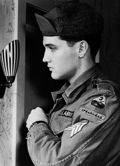 Elvis photographed in Bad Neuheim, Germany, January 1960.