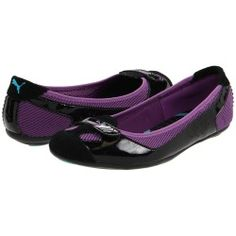 My very favorite black and purple patent flats - that they're so comfortable doesn't hurt, either.