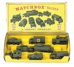 A free online price / valuation guide for the pre 1970 moko lesney matchbox gift set range, Gift set 1963 Army Set