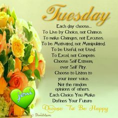 Tuesday Morning Quotes Happy Tuesday Quotes And Sayings  Ideas For The House  Pinterest .