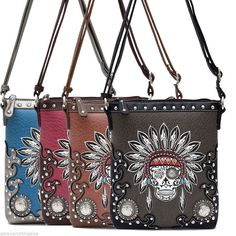 Western Cowgirl Indian Embroidery Deco Design Messenger Bag #GetEverythingElse #MessengerCrossBody