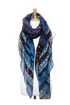 Devon Scarf in Blue - So pretty; I WANT!