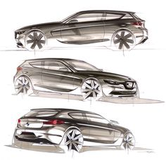 BMW 1-Series sketches. I am in love with this car! Nr1 on my list!