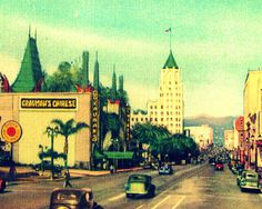 OLD HOLLYWOOD art photo Grauman's Chinese Theater