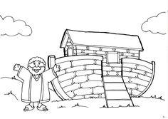 Noah Ark Ink Drawing