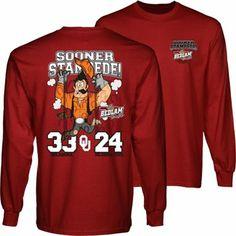 Oklahoma Sooners vs. Oklahoma State Cowboys 2013 Score Long Sleeve T-Shirt