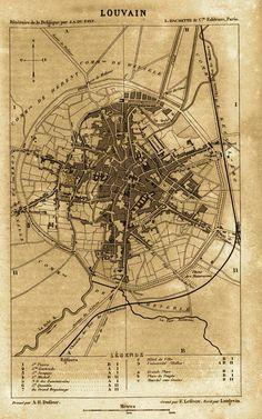 Reisgids, Itinéraire de la Belgique, Hachette 1865, Bondgenotenlaan nog niet doorgetrokken tot aan het stadhuis.