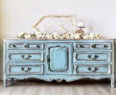 SOLD***French provincial dresser, buffet, tv stand, green, French county, farmhouse, cottage